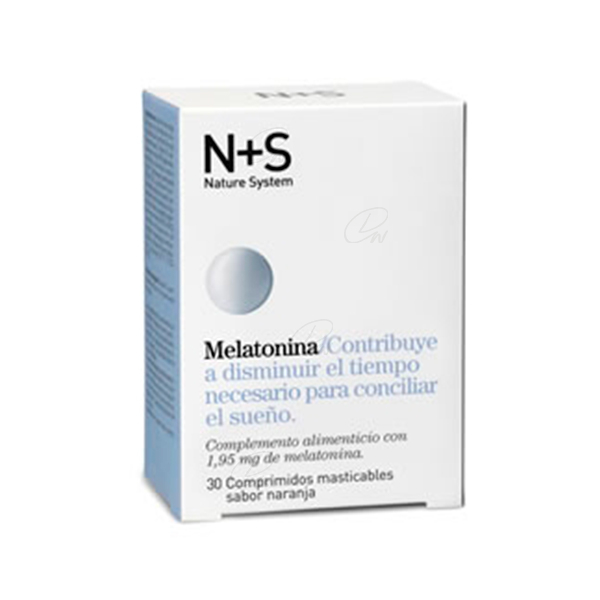 NS MELATONINA COMP MASTICABLES NARANJA 1.95 MG 30 COMP