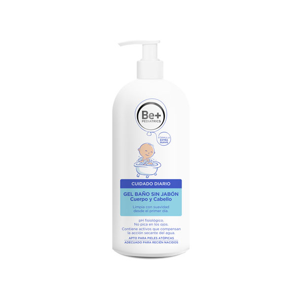 BE+ PEDIATRICS GEL BAÑO SIN JABON 500ML
